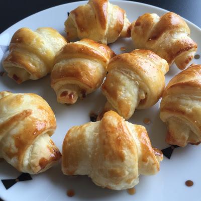 Mini-croissants saumon/boursin